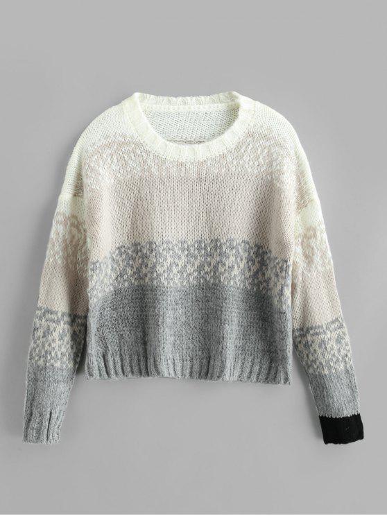 Suéter extragrande con hombros caídos - Multicolor Talla única