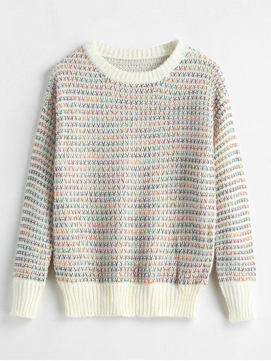 new Crewneck Space Dye Thread Sweater - MULTI ONE SIZE