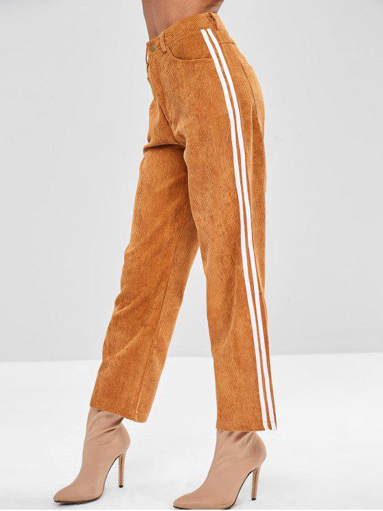 Pantalones a rayas en pana - Caramelo S