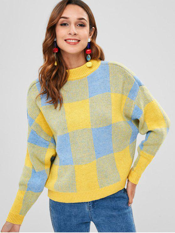 outfit Pullover Geometric Graphic Sweater - MULTI ONE SIZE