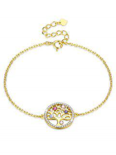 Elegante Pulsera De Diamantes De Imitación Redonda Del árbol - Multicolor-b