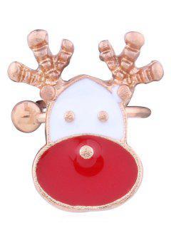 Alloy Christmas Elk Decorative Clip Earring - Multi