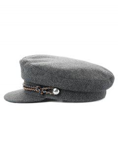 Solid Color Winter Flat Top Hat - Gray