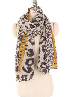 Leopard Print Lightweight Winter Scarf - Golden Brown