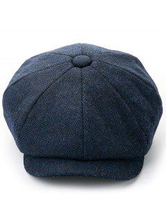 Solid Color Winter Duckbill Hat - Midnight Blue