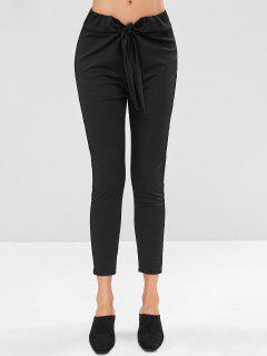 Tie Front Pants - Black M