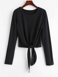 Knotted Plain Tee - Black L