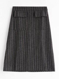 Taschen Stripes Rock - Kohle Grau L