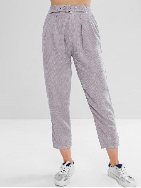 Pantalones de pana recta - Nube Gris L Mobile