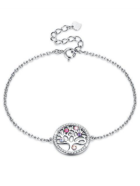 ladies Elegant Round Tree Rhinestone Bracelet - MULTI-A  Mobile