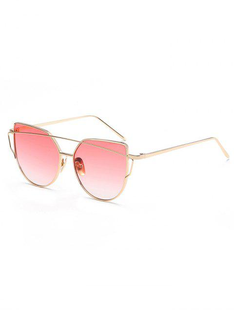 affordable Vintage Crossbar Flat Lens Sunglasses - WATERMELON PINK  Mobile