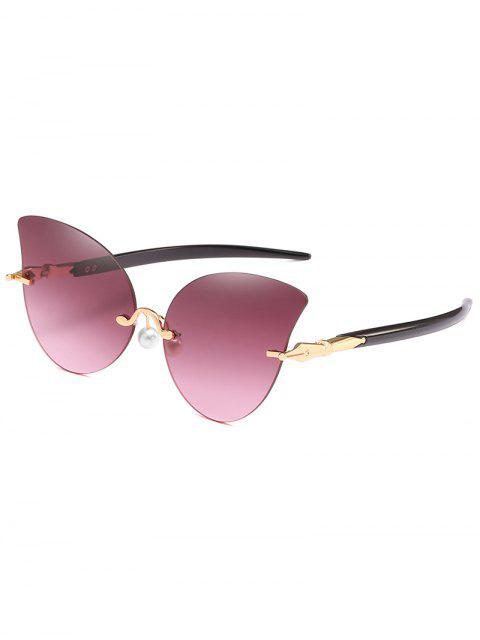 Gafas de sol antifaz con almohadillas de nariz de perlas artificiales - Lápiz Labial Rosa  Mobile