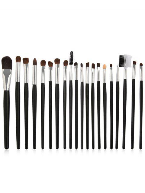 buy 20Pcs Wooden Handles Ultra Soft Eye Makeup Brush Suit - BLACK  Mobile