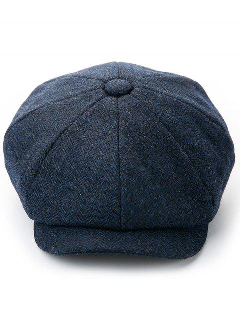 online Solid Color Winter Duckbill Hat - MIDNIGHT BLUE  Mobile