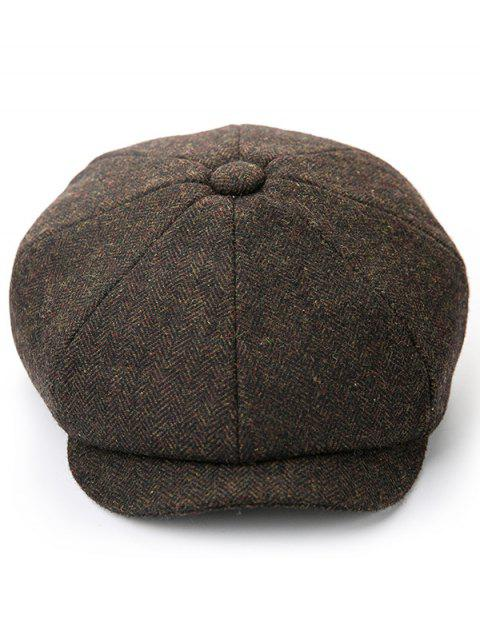 new Solid Color Winter Duckbill Hat - COFFEE  Mobile