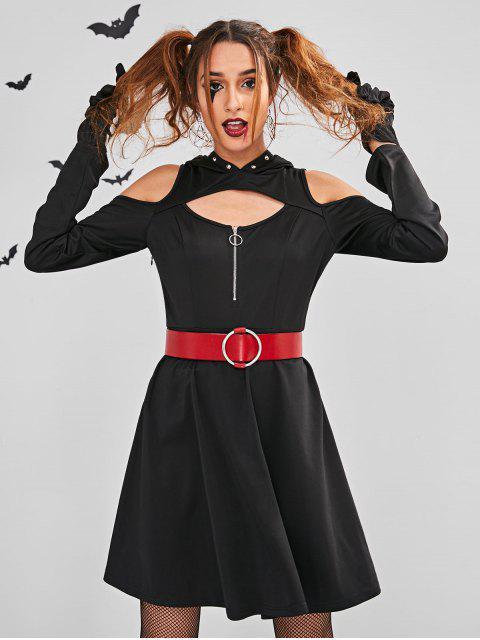 ZAFUL Cut Out Disfraz de disfraz de Halloween - Negro M Mobile