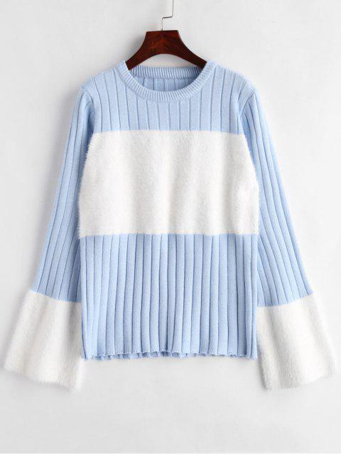 Suéter de dos tonos con textura - Multicolor Talla única Mobile