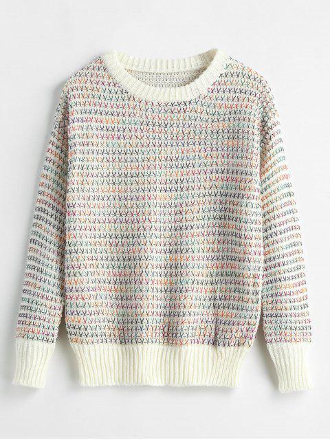 Crewneck Space Dye Thread Sweater - Multicolor Única Talla Mobile