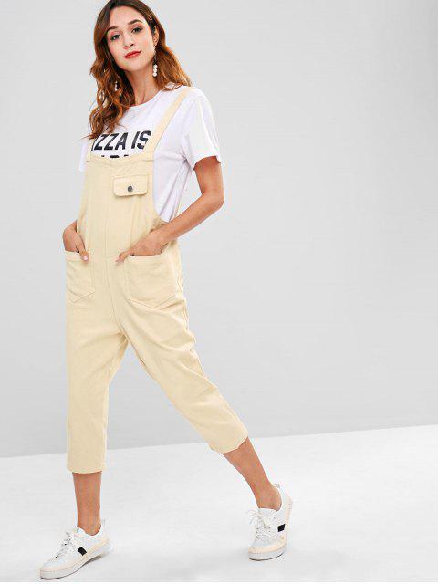 Taschen Einfarbig Overalls - Blanchierte Mandel Eine Größe Mobile