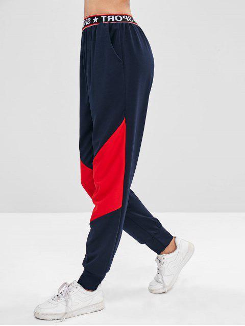 SPORT Graphic Color Block Sweatpants - Multi-A L Mobile
