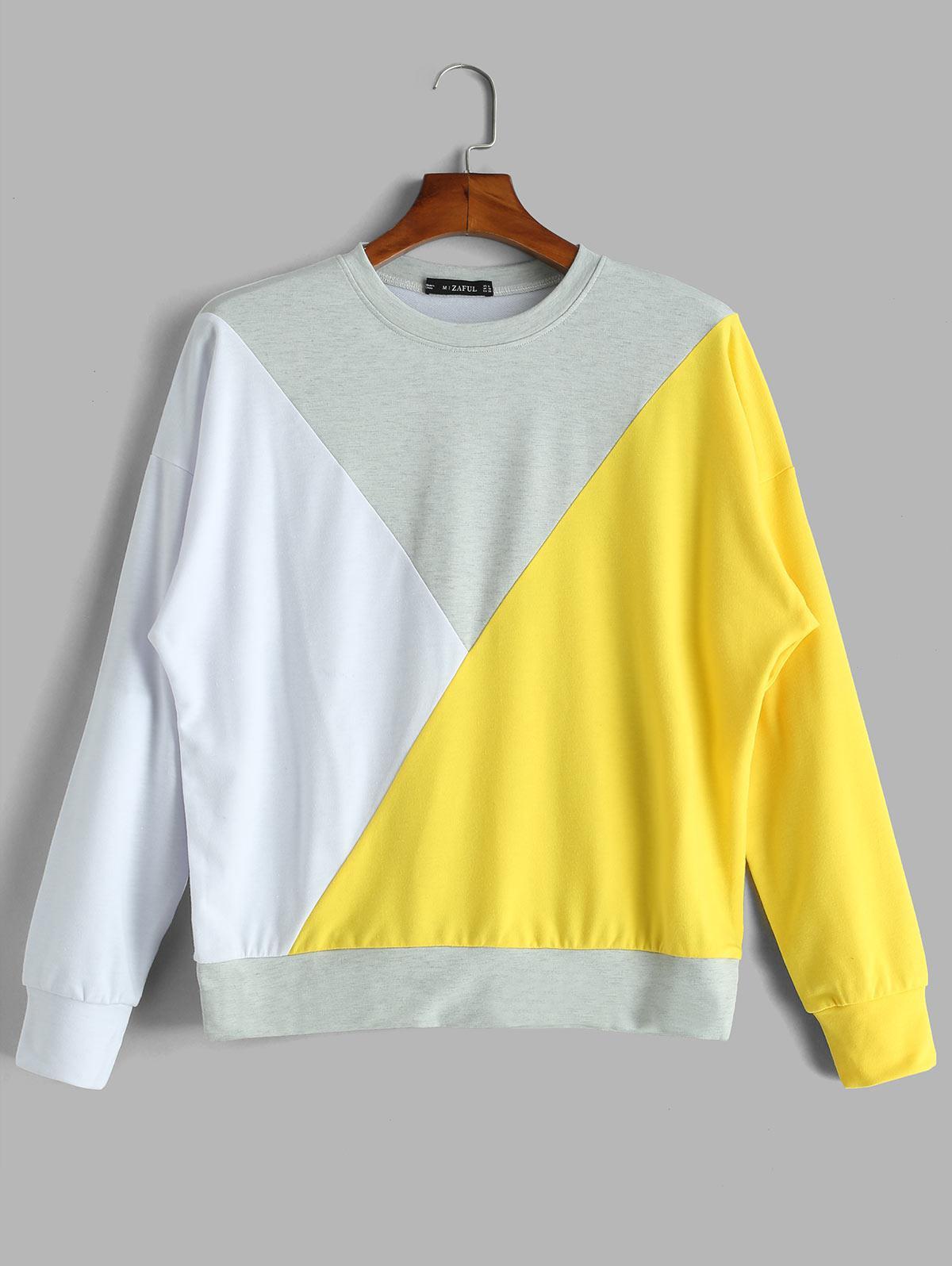 ZAFUL Loose Color Block Sweatshirt