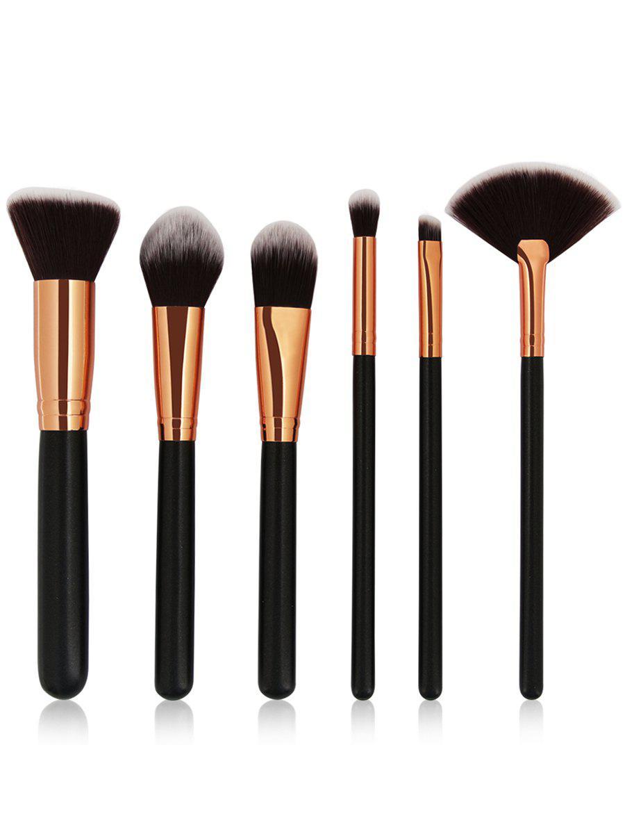 Cosmetic 6Pcs Wooden Handles Travel Makeup Brush Set