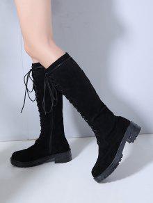8bc06b1cb15 36% OFF  2019 Chunky Heel Platform Knee High Boots In BLACK EU 36 ...