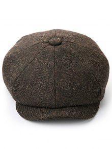 قبعة بلون الشتاء منقار البط - قهوة