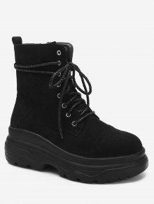 الرباط حتى منصة أحذية قصيرة - أسود الاتحاد الأوروبي 39