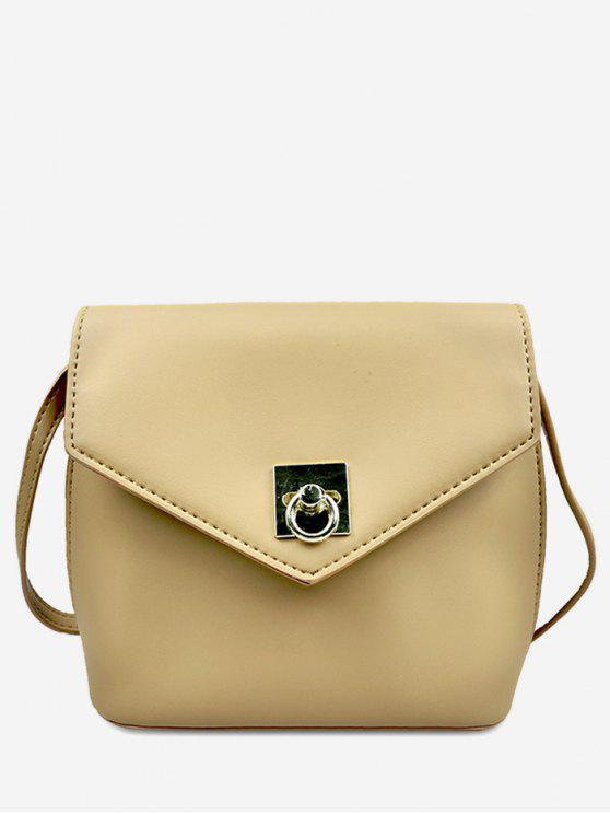 sale Solid Color Mini Crossbody Bag - APRICOT