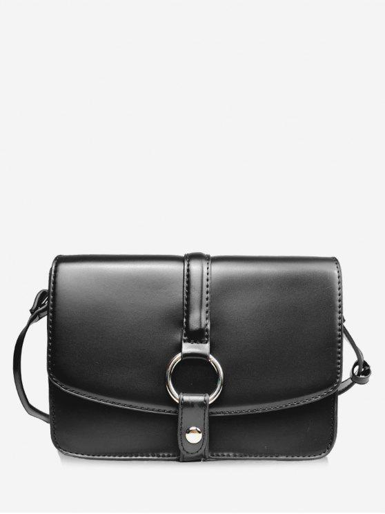 Furo Redondo Embellished Mini Crossbody Bag - Preto