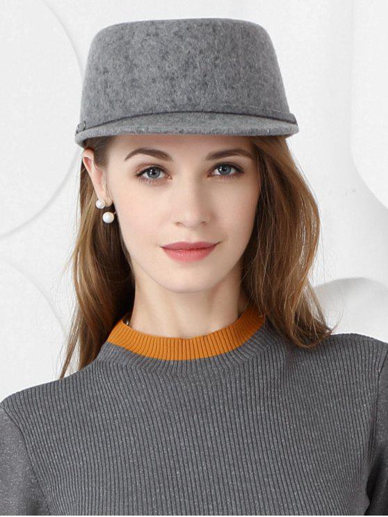 قبعة بيسبول الصوف لون خالص - سفينة حربية رمادية