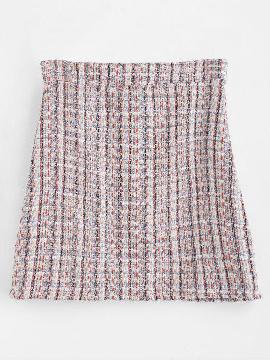 buy Mini Color Block Skirt - MULTI M