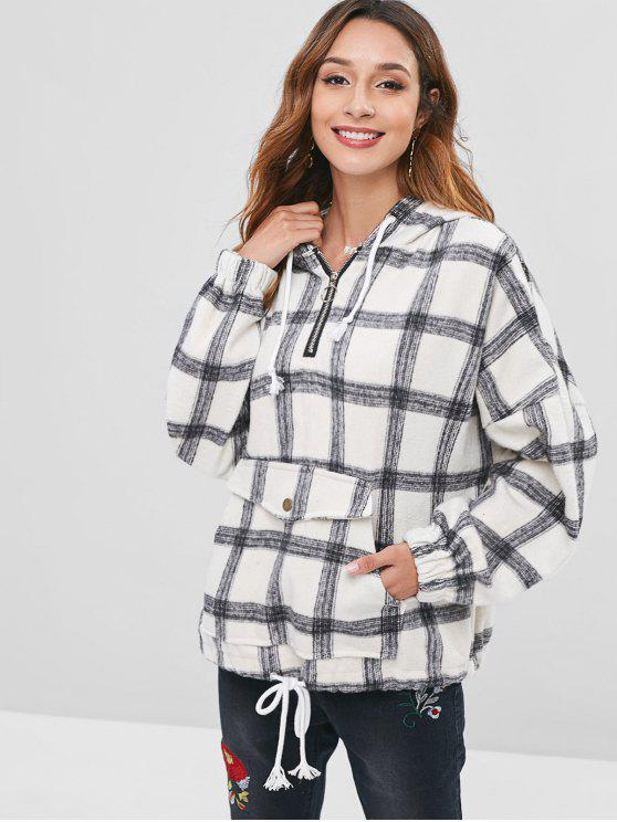 best Checked Brushed Oversized Hoodie - MULTI XL