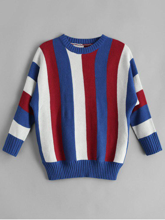 outfits Colorful Striped Jumper Sweater - MULTI L