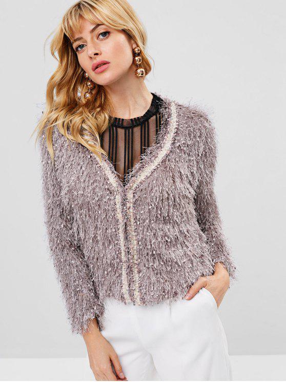 buy All Over Fringe Jacket - VIOLA PURPLE M