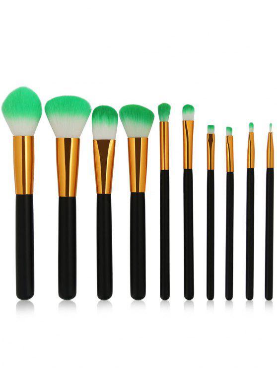 shop Cosmetic 10Pcs Soften Silky Travel Makeup Brush Suit - BLACK