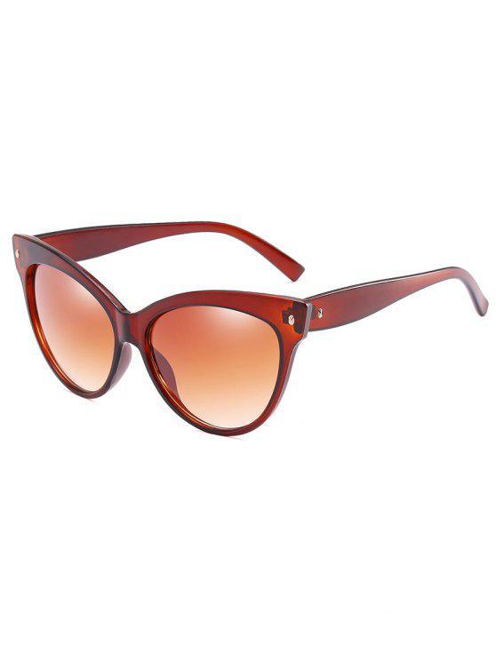 ladies Stylish Full Frame Catty Sunglasses - BROWN