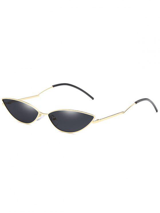 hot Novelty Slim Metal Frame Sunglasses - NIGHT