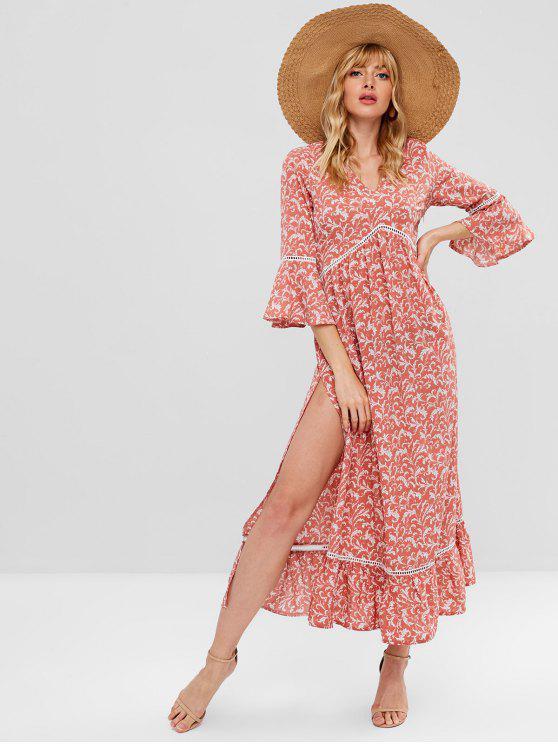 ZaFul Floral Print Maxi Tea Dress - Multi M