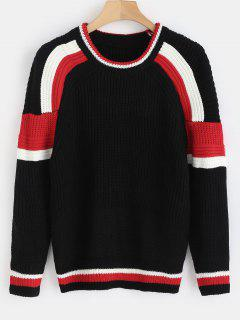 Raglan Sleeve Sweater - Black