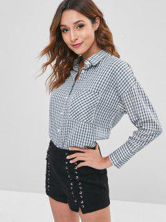 Relaxed Chest Pocket Checked Shirt - Multi S
