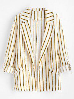 Lightweight Striped Two Pocket Woven Blazer - Multi S