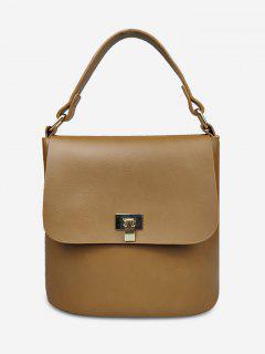 Minimalist Solid Color Handbag - Brown