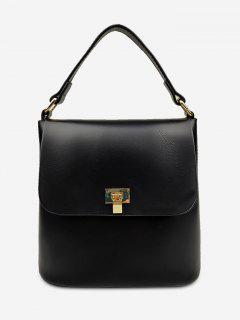 Minimalist Solid Color Handbag - Black