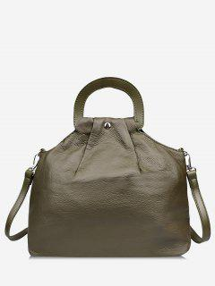 PU Leather All Purpose Tote Bag - Medium Forest Green