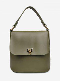 Minimalist Solid Color Handbag - Medium Forest Green