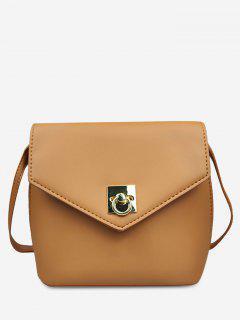 Solid Color Mini Crossbody Bag - Light Brown
