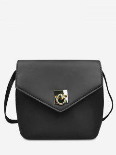 Mini Bolso Cruzado De Color Sólido - Negro