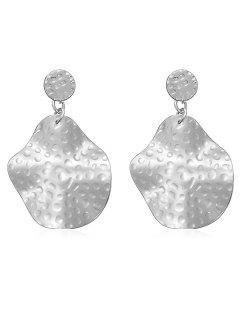 Alloy Irregular Geometric Shape Dangle Earrings - Silver